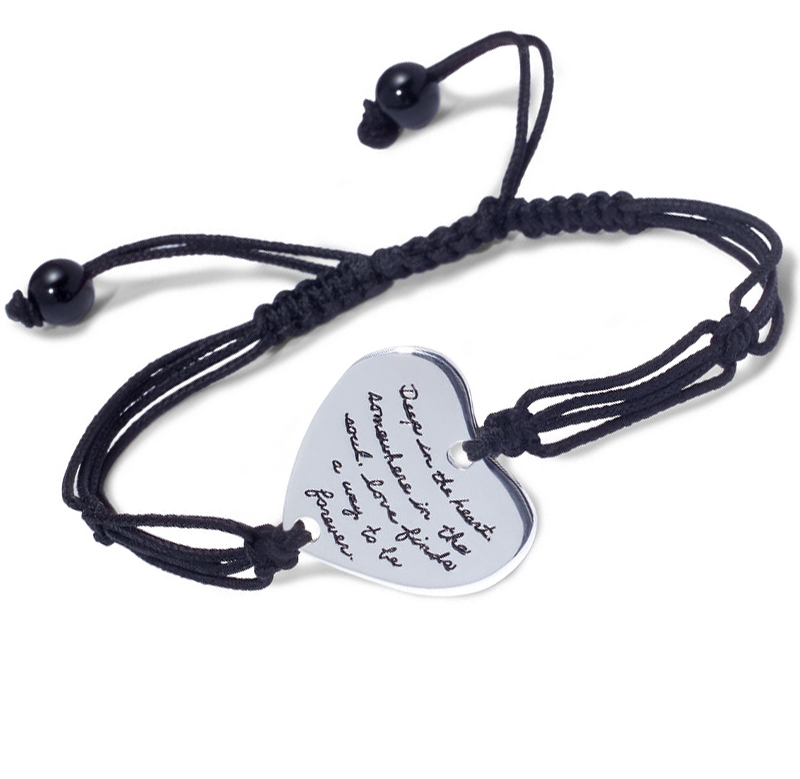 Love Finds You Quote: Quote Bracelet With Adjustable Hand