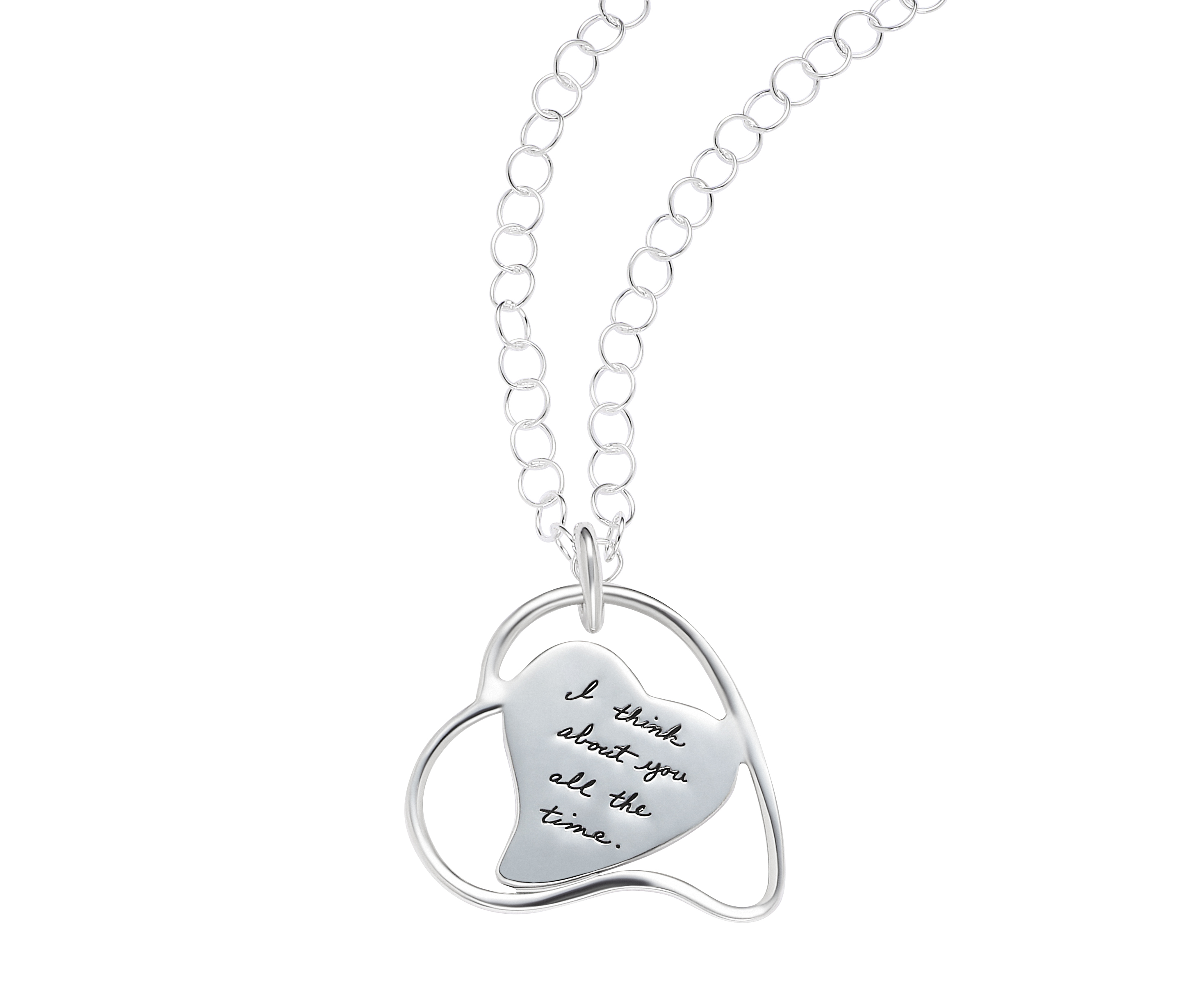"""All the Time"" Leaning Heart Pendant - Necklaces ..."