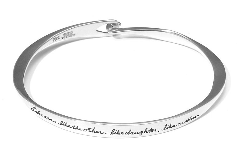 Bracelet with engraved quote -  Like one like the other like daughter like mother | Inspirational Bracelet | BB Becker