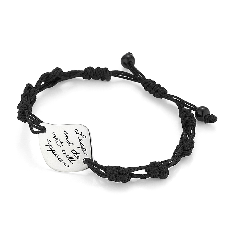 Bracelet with engraved quote - Leap and the net will appear.  ~Unknown | Inspirational Jewelry