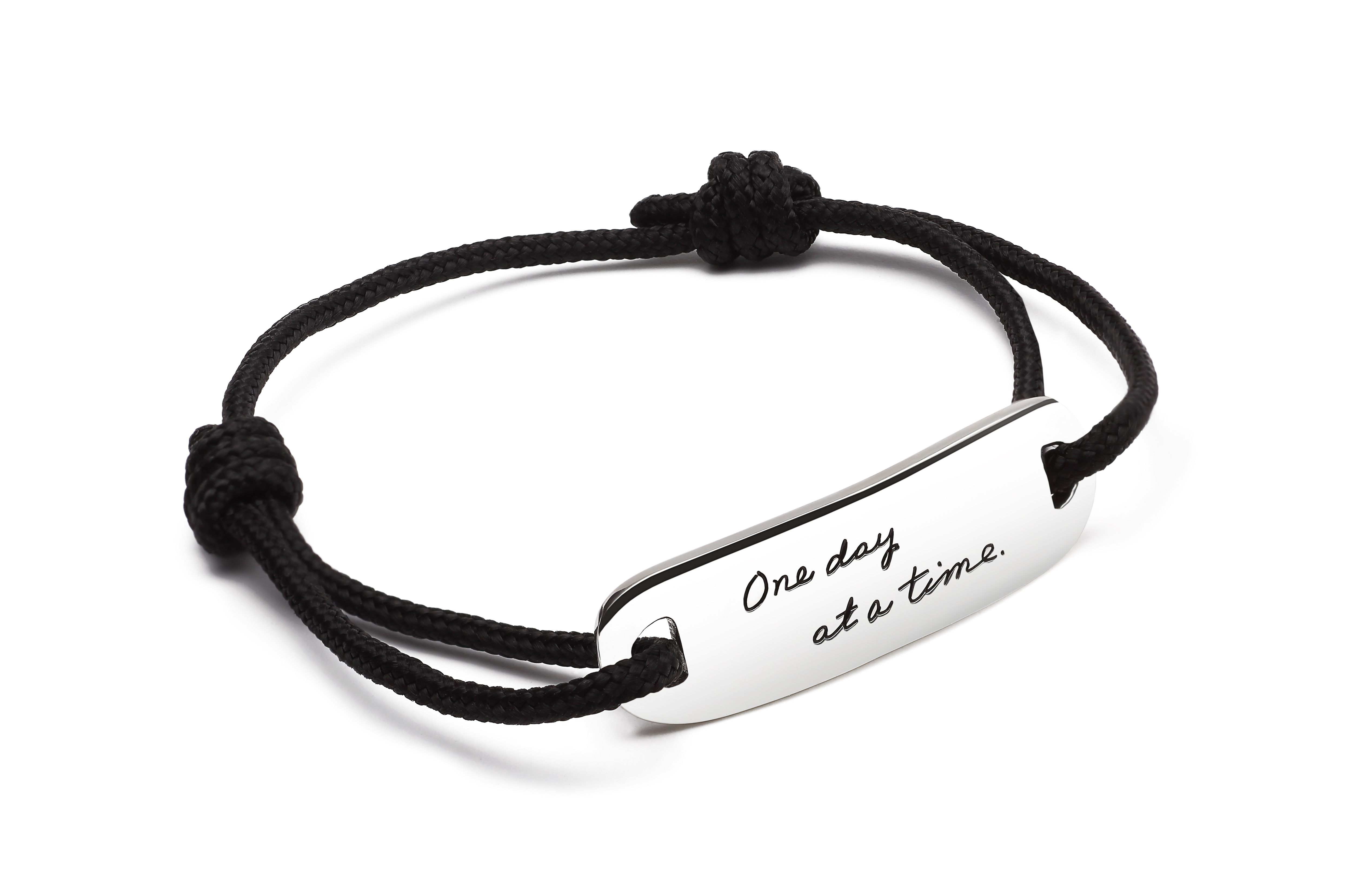 Quote Bracelet With Adjule Cord