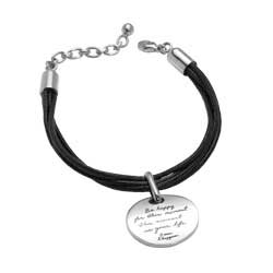 Bracelet with engraved quote - Be happy for this moment. This moment...is your life. ~Omar Khayyam | Inspirational Jewelry