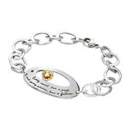 Bracelet with engraved quote - Every saint has a past and every sinner has a future. | BB Becker | Inspirational Jewelry