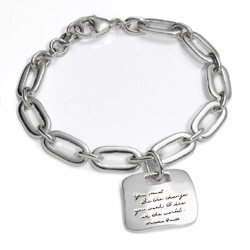 Bracelet with engraved quote - You must be the change you wish to see in the world. ~Mahatma Gandhi | BB Becker | Inspirational Jewelry
