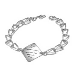 Bracelet with engraved quote - Strong Women. May we know them. May we raise them. May we be them. ~Unknown | BB Becker | Inspirational Jewelry
