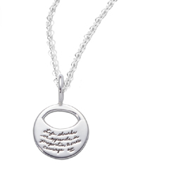 Necklace with engraved quote - Life shrinks or expands in proportion to one's courage. ~Anais Nin | BB Becker | Inspirational Jewelry