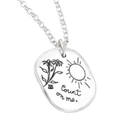 BB Becker | Inspirational Jewelry | Necklace with engraved quote - Count On Me