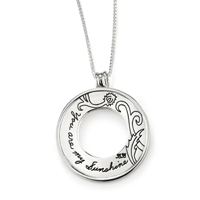 Pendant with Engraved Quote - You are my sunshine. | BB Becker| Inspirational Jewelry