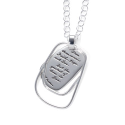 Pendant with Engraved Quote - These three remain: Faith, Hope and Love. But the greatest of these is Love. ~1st Corinthians | BB Becker| Inspirational Jewelry