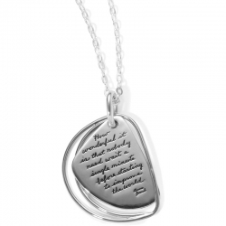 Pendant with Engraved Quote - How wonderful it is that nobody need wait a single minute before starting to change the world. ~Anne Frank | BB Becker| Inspirational Jewelry