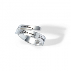 Ring with engraved quote - Like one, like the other, like daughter, like mother. ~Anonymous | BB Becker | Inspirational Jewelry