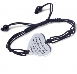 Bracelet with engraved quote - Deep in the heart, somewhere in the soul, love finds a way to be forever. ~Unknown | Inspirational Jewelry