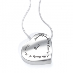 Pendant with Engraved Quote - The only lasting beauty is the beauty of the heart. ~Rumi | BB Becker| Inspirational Jewelry