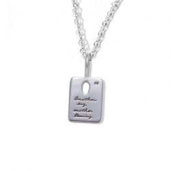 Necklace with inscribed quote - Another day, another blessing. | BB Becker | Inspirational Jewelry