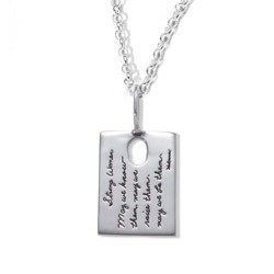 Inspirational Necklace | Strong Women. May we know them. May we raise them. May we be them. ~Unknown | BB Becker